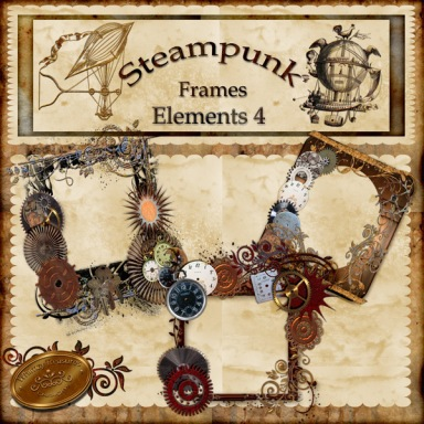 steampunk, frames, cu, vintage rustic