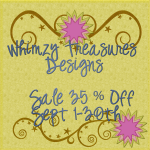 Whimzy Treasures Designs Sale 35% off