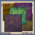 Indian summer blog train papers DSD